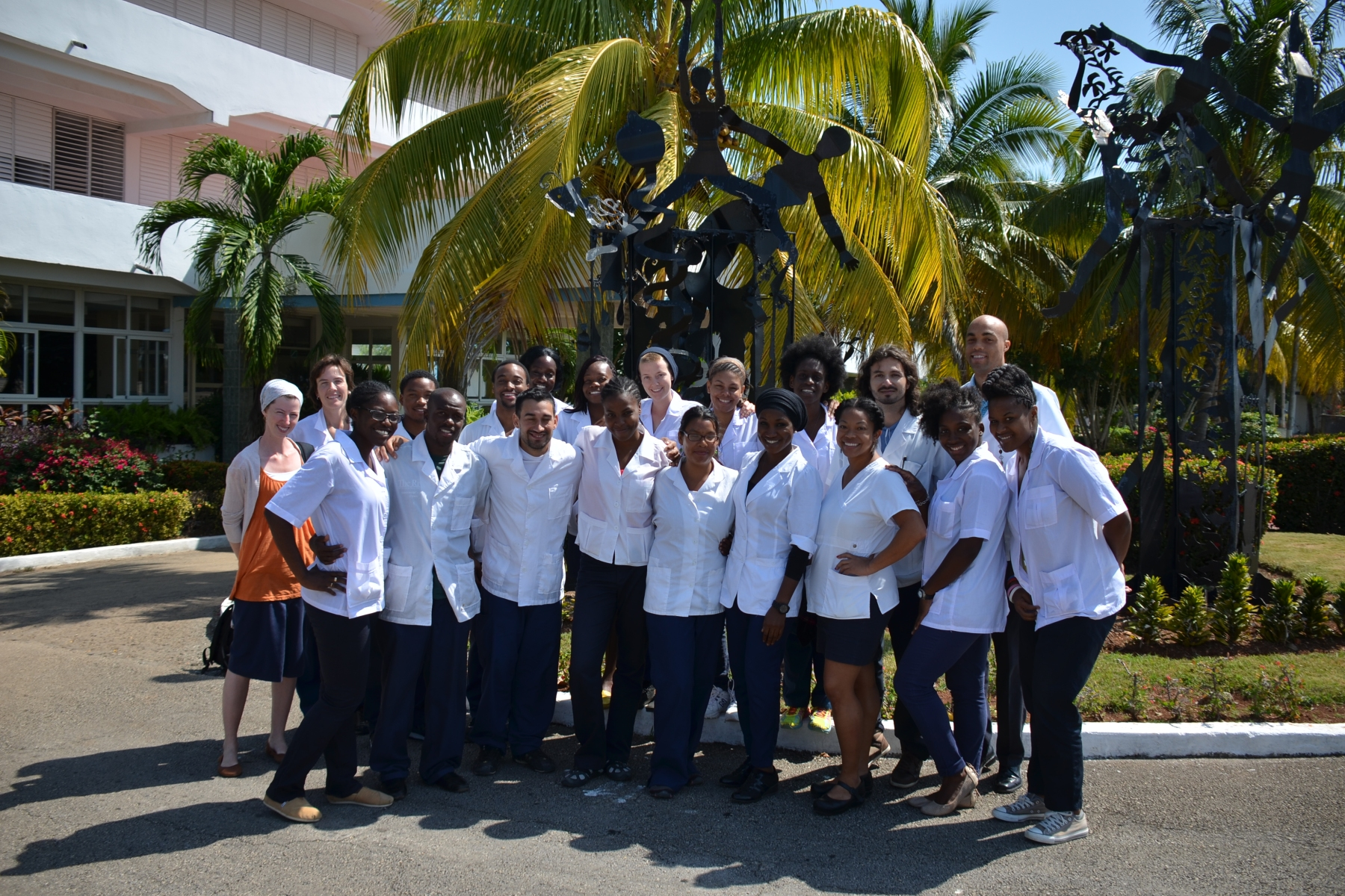 US Students studying at the Latin American School of Medicine in Cuba