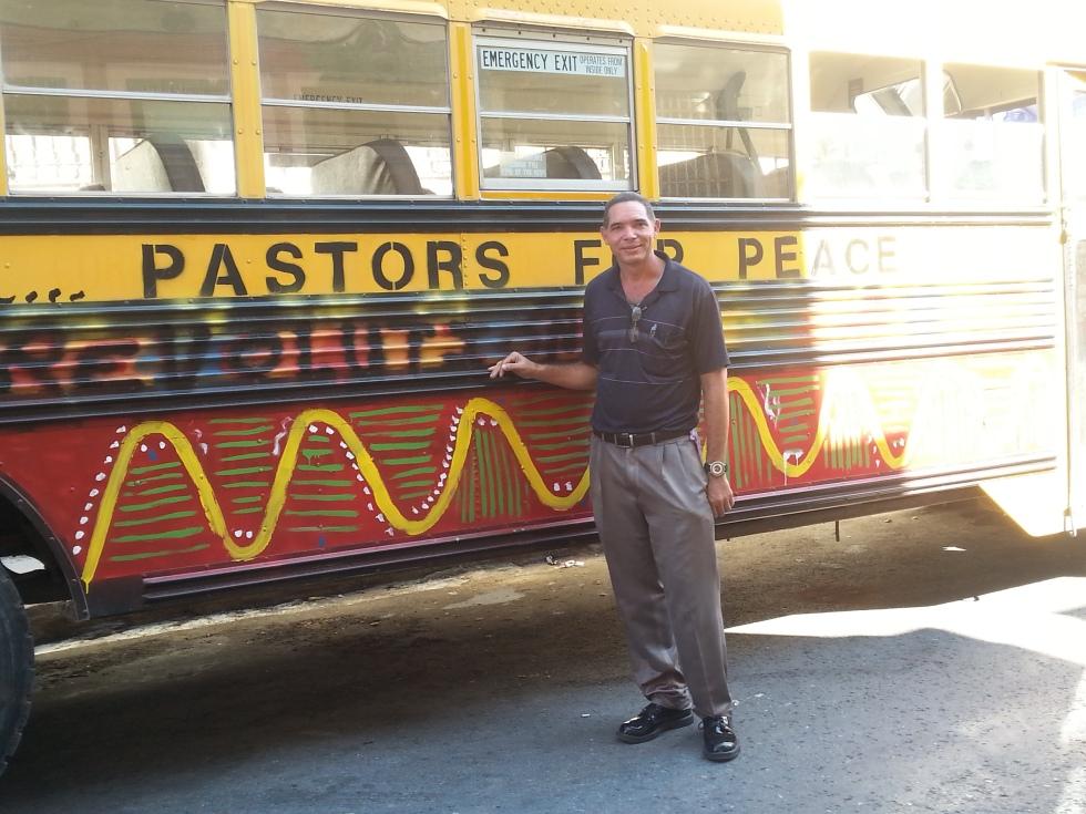 Reverend Osmani of the Iglesia de Dios Ortodoxa en Santiago de Cuba receiving a caravan vehicle all the way from Indiana donated by Scott Cowley in Utah.