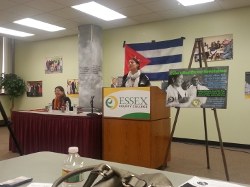 Leima Martinez, of the North American ICAP Desk speaking at the Essex County Community College