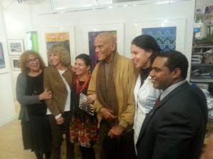 ICAP delegation at the Center for Cuban Studies with Harry Bellafonte