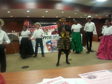 Performance by the children of the Maryland International Day School (MIDS) organized by the National Network on Cuba Fall meeting with ICAP delegation visiting the US