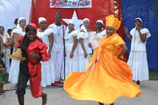Oshun and Chango dancing